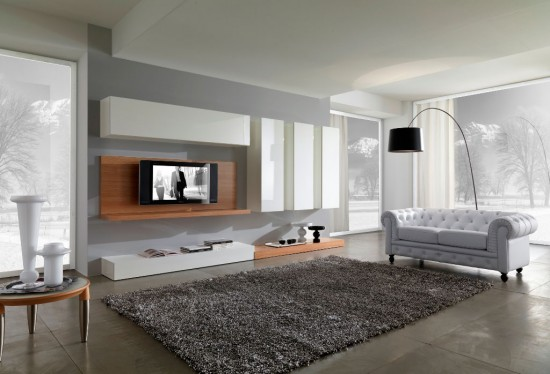 Modern Gray Living Room Design 550x3741